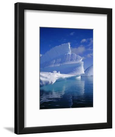 Iceberg with Fluted and Honeycomb Textures, Antarctica, Polar Regions