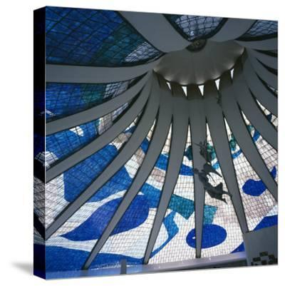 Interior of the Roof of the Catedral Metropolitana, Brasilia, Brazil, South America