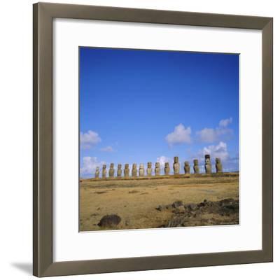 Line of Statues, Ahu Tongariki, Easter Island, Chile