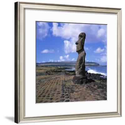 Moai Statue, Ahu Akapu, Easter Island, UNESCO World Heritage Site, Chile, South America