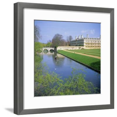 The Backs, River Cam, Clare College, Cambridge, Cambridgeshire, England, UK