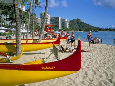 Waikiki Beach, Honolulu, Oahu, Hawaiian Islands, United States of America, Pacific, North America