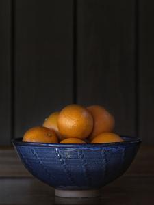 Ten Oranges in a Blue Bowl lo key by Geoffrey Ansel Agrons