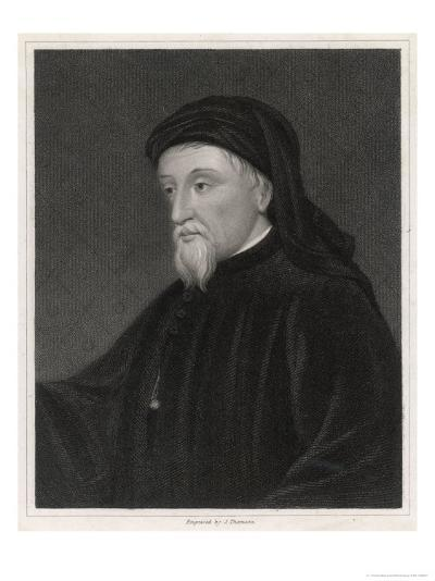 Geoffrey Chaucer English Poet Writer of the Canterbury Tales-J. Thomson-Giclee Print