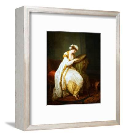 A Woman at Needlepoint by Angelica Kauffmann
