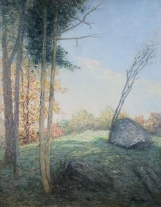 Country Landscape by Julian Alden Weir by Geoffrey Clements