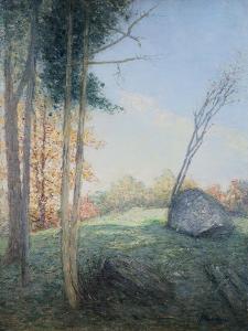 Country Landscape by Julian Alden Weir by Geoffrey Clements