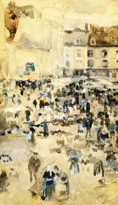 European Street Scene by Maurice Prendergast by Geoffrey Clements