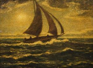 Moonlight Sail by Albert Pinkham Ryder by Geoffrey Clements