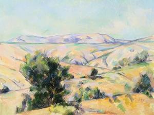 Mountain Landscape by Paul Cezanne by Geoffrey Clements