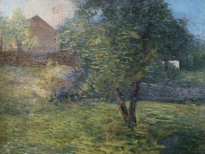 Painting of Country Scene by Julian Alden Weir by Geoffrey Clements
