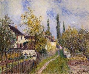 Painting of the French Countryside by Alfred Sisley by Geoffrey Clements