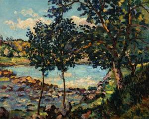 River Landscape by Jean-Baptiste-Armand Guillaumin by Geoffrey Clements