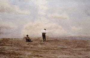 Tending the Fishing Nets by Thomas Eakins by Geoffrey Clements