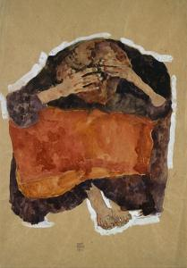 Troubled Woman by Egon Schiele by Geoffrey Clements