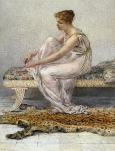 Woman on Divan by Francis Millet by Geoffrey Clements