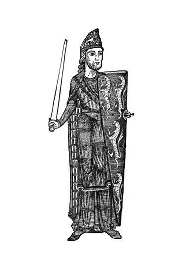 Geoffrey Plantagenet, Count of Anjou, Mid-12th Century--Giclee Print