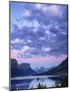 Clouds Above Lake Saint Mary, Glacier National Park Just before Dawn, Montana, USA by Geoffrey Schmid