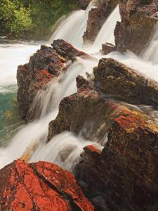Red Rock Falls, Glacier National Park, Montana, USA by Geoffrey Schmid