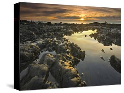 Tide Pools at Low Tide and at Sunset on Rialto Beach, Olympic National Park, Washington, USA