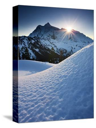 Winter Sunrise over Mount Shuksan from Kulshan Ridge, Mount Baker Wilderness, Washington, USA