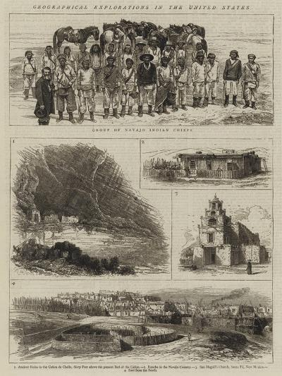 Geographical Explorations in the United States--Giclee Print