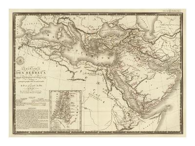 Geographie des Hebreux, c.1821-Adrien Hubert Brue-Art Print