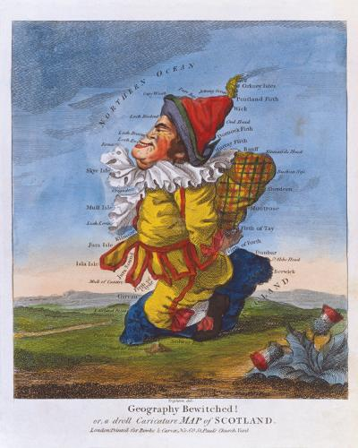 Geography Bewitched! or, a Droll Caricature Map of Scotland, c1793- Bowles and Carver-Premium Giclee Print