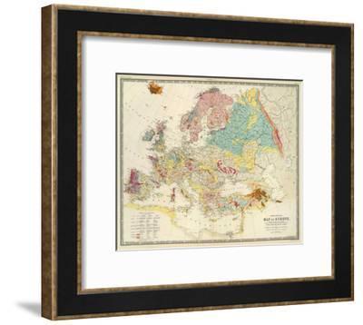 Geological Map of Europe, c.1856-Sir Roderick Impey Murchison-Framed Art Print