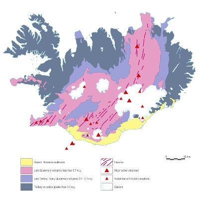 Geological Map of Iceland-Gary Gastrolab-Photographic Print