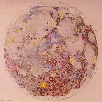 Geological Map of the Moon, 1967--Giclee Print