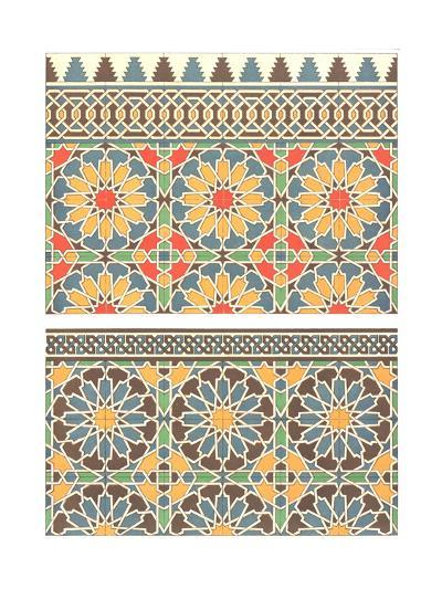 Geometric Abstract Floral Fretwork--Art Print