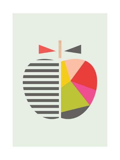 Geometric Apple-Little Design Haus-Giclee Print