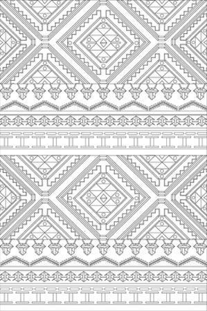 Geometric Banderole Coloring Art