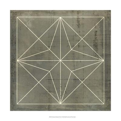 Geometric Blueprint I--Giclee Print