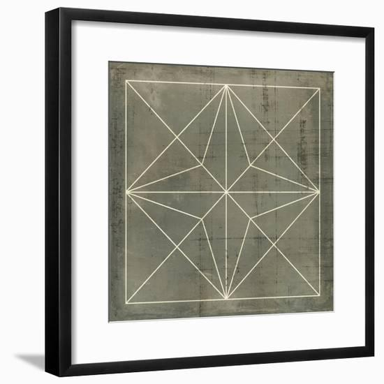 Geometric Blueprint I--Framed Art Print