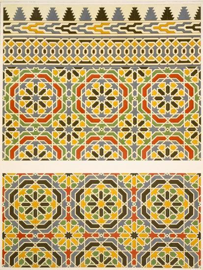Geometric Ceramic (Faience) Decoration from the Mosque of Cheykhoun, 19th Century (Print)-Emile Prisse d'Avennes-Giclee Print