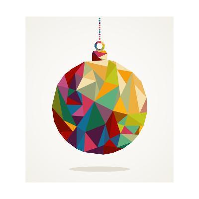 Geometric Christmas Ornament-cienpies-Art Print