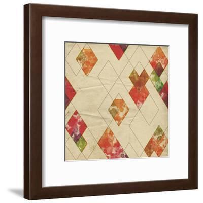 Geometric Color Shape II-Irena Orlov-Framed Art Print