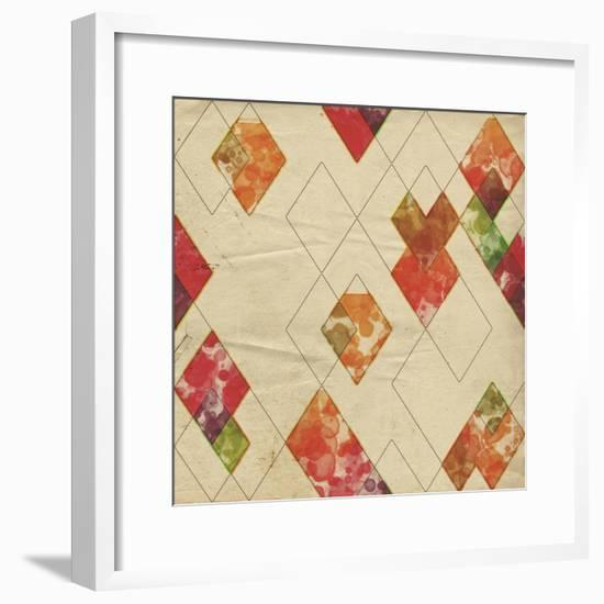 Geometric Color Shape II-Irena Orlov-Framed Art Print