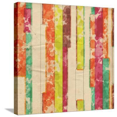 Geometric Color Shape IX--Stretched Canvas Print