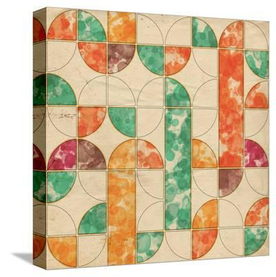 Geometric Color Shape V--Stretched Canvas Print