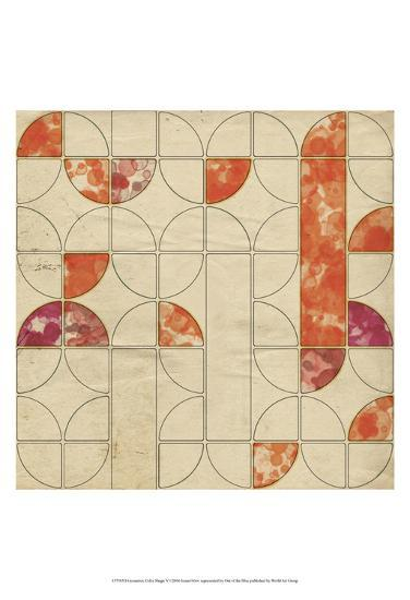 Geometric Color Shape V-Irena Orlov-Art Print