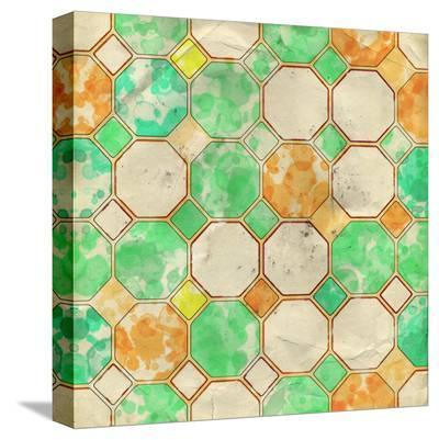 Geometric Color Shape XII--Stretched Canvas Print