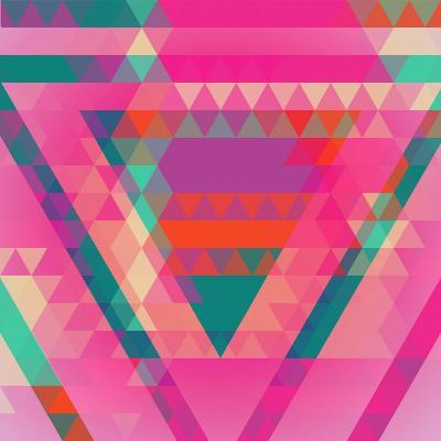 Geometric Colorful Abstract Background. Retro Design. Vector Illustration EPS 10.-Olha Kostiuk-Art Print