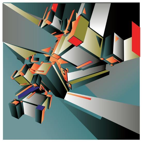 Geometric Colorful Design Abstract Background for Poster- singpentinkhappy-Art Print