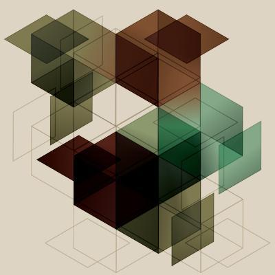Geometric Cube Background. Eps10 with Transparency- Transfuchsian-Art Print