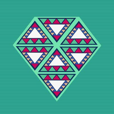 Geometric Diamond Composition-cienpies-Art Print
