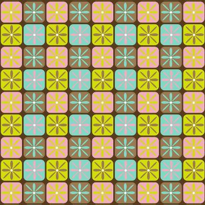 Geometric Floral Box-Joanne Paynter Design-Giclee Print