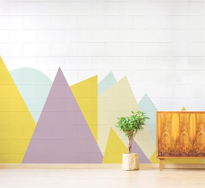 Geometric Forest--Wall Mural